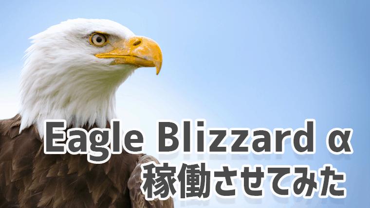 Eagle Blizzard αのフォワードテスト